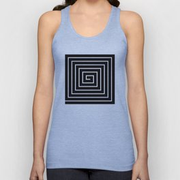 Black White Spiral Unisex Tank Top