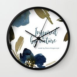 indygo flowers Wall Clock