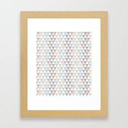 Geometric Pattern Wanderlust Pastel Framed Art Print