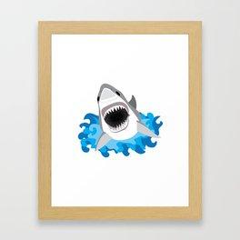 Shark Attack #2 Framed Art Print