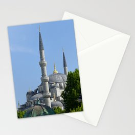 Blue Mosque, view from Sultanahmet, Istanbul, Turkey Stationery Cards
