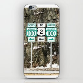 Vermont Route 100 iPhone Skin