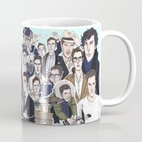 benedict cumberbatch Mugs featuring Benedict Cumberbatch 2014 by enerjax