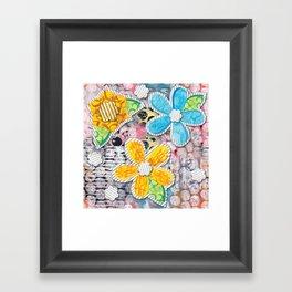 Paper Flower Power Framed Art Print