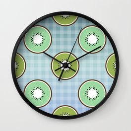 Kiwi summer fruit Wall Clock