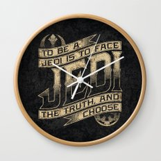 To Be A Jedi Wall Clock
