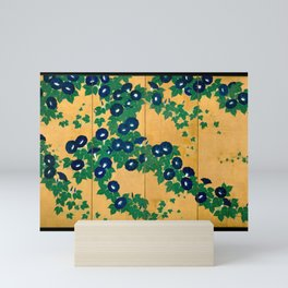Japanese Art Print - Suzuki Kiitsu - Morning Glories A (1810s) Mini Art Print