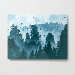 Redwood Forest Teal Adventure - National Parks Nature Photography Metal Print