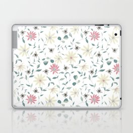 Floral Bee Print Laptop & iPad Skin
