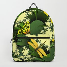 Yellow Dragonflies Backpack