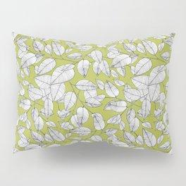 Line Work Leaves Plant Pattern Pillow Sham