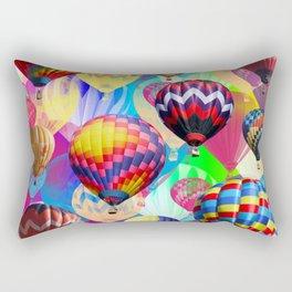 Colored Balloons. Rectangular Pillow