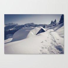 Hiking in Leysin Canvas Print
