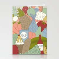food Stationery Cards featuring FOOD by Nora