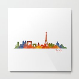 Paris City Skyline Hq v1 Metal Print