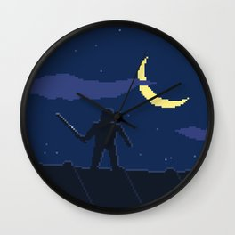 Pixel Assassin Wall Clock