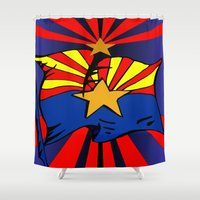 arizona Shower Curtains featuring Arizona by Wired Circuit
