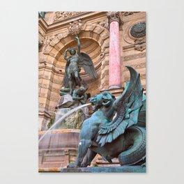 Saint-Michel Fountain Canvas Print