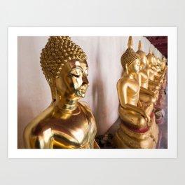 Buddha, Wat Pho, Bangkok, Thailand Art Print