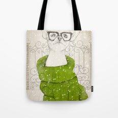 Hipster Chiuaua Tote Bag