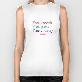 Free Speech, Free Press, Free Country Biker Tank