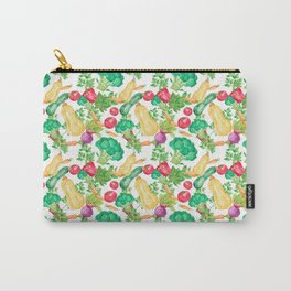 Vegetarian Pattern Carry-All Pouch