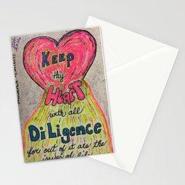 Proverbs 4:23 (KJV) Stationery Cards