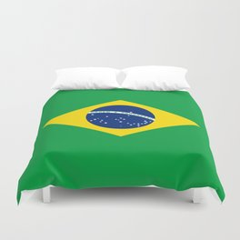 Brazil Flag Graphic Design Duvet Cover