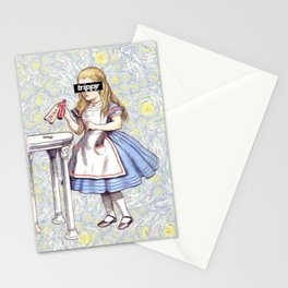 Trippy Alice Stationery Cards