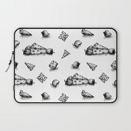 Cheeesy mood b&w Laptop Sleeve