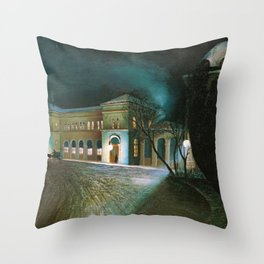 Around Midnight (Budapest East Station) by Tivadar Csontvary-Kosztka Throw Pillow