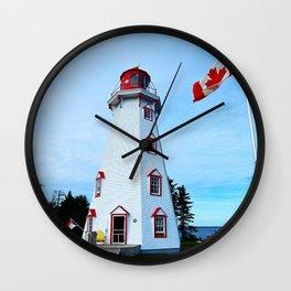 Lighthouse Panmure Island Wall Clock