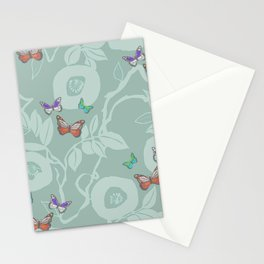 trailing vine w butterflies Stationery Cards
