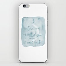Love you to the moon and back in blue iPhone & iPod Skin