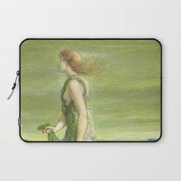 """Sir Edward Coley Burne-Jones """"Evening"""" Laptop Sleeve"""