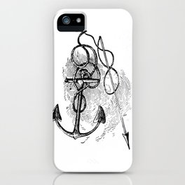 Anchor and harpoon. iPhone Case