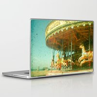 carousel Laptop & iPad Skins featuring Carousel by Cassia Beck