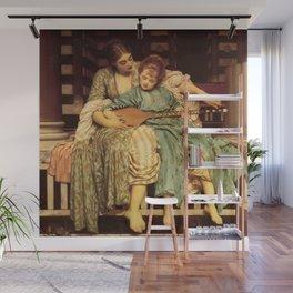 "Frederic Leighton ""Music lesson"" Wall Mural"