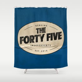 THE FORTY FIVE Shower Curtain