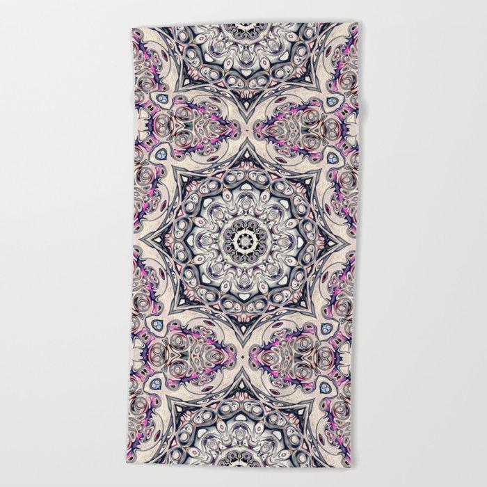 Abstract Octagonal Mandala Beach Towel