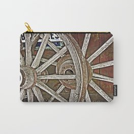 Weathered Wagon Wheels Carry-All Pouch