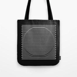 Circle over black Tote Bag