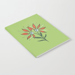 Cute Eyes Flower Monster Notebook
