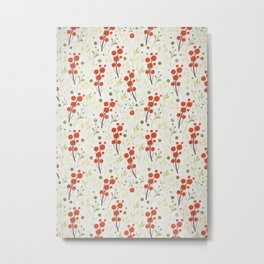 Fresh Fruits Pattern Metal Print