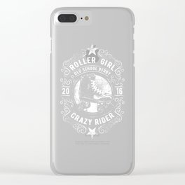 Roller Girl Old School Derby Crazy Rider Clear iPhone Case