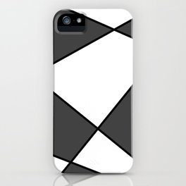 Geometric abstract - gray, black and white. iPhone Case