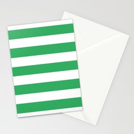 Asda Green (2002) - solid color - white stripes pattern Stationery Cards