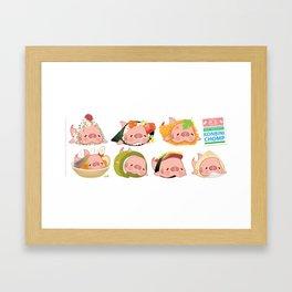 Konbini Chomp Framed Art Print