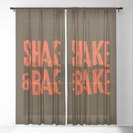 Shake and Bake Sheer Curtain