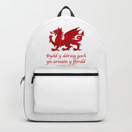 The Red Dragon Will Lead The Way Backpack